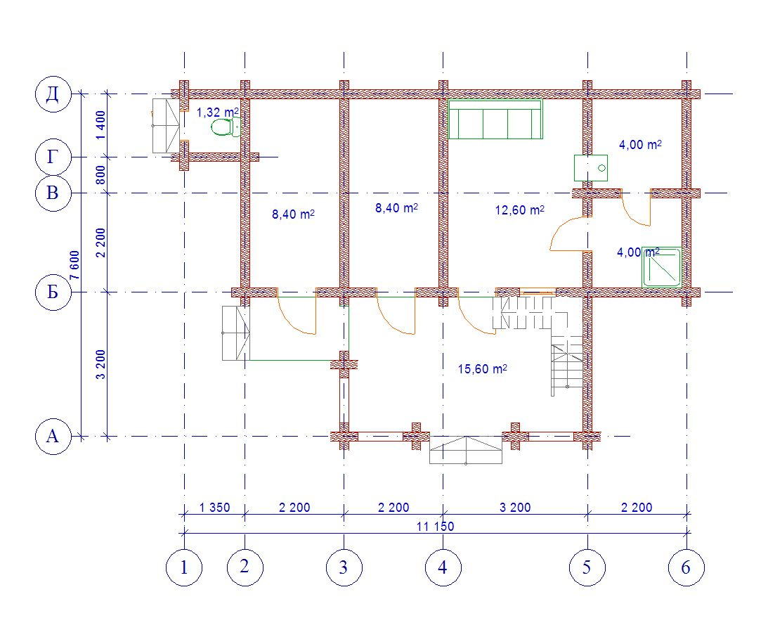 Проект бани БО№11
