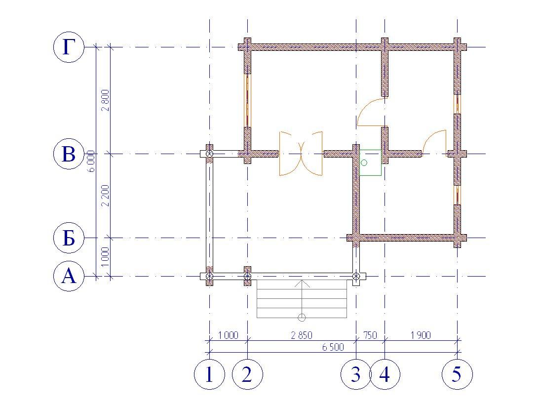 Проект бани БО№21