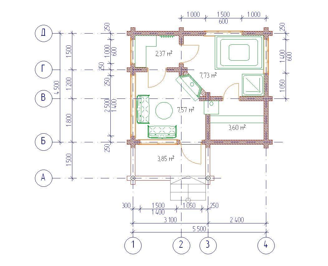 Проект бани БО№22