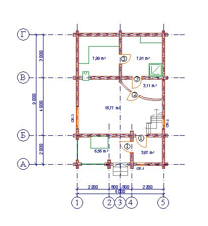 Проект бани БО№25