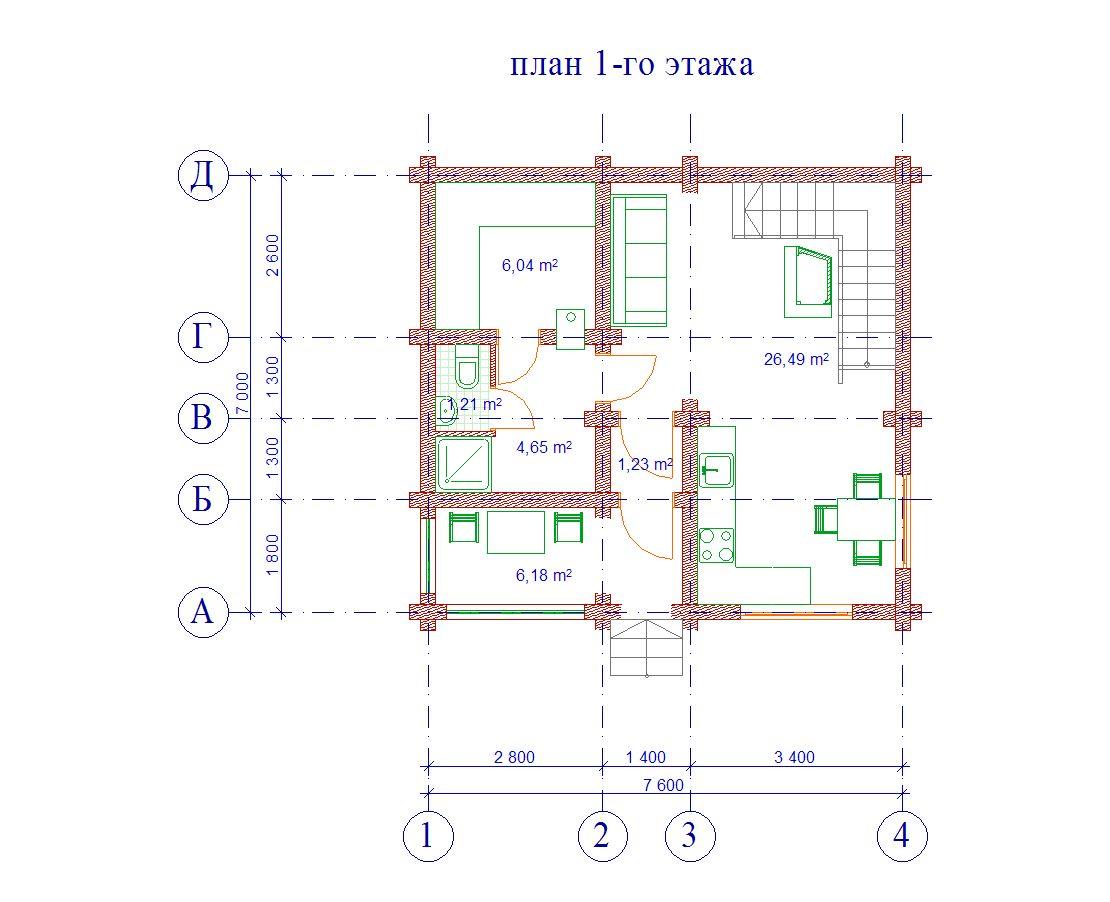 Проект бани БО№27