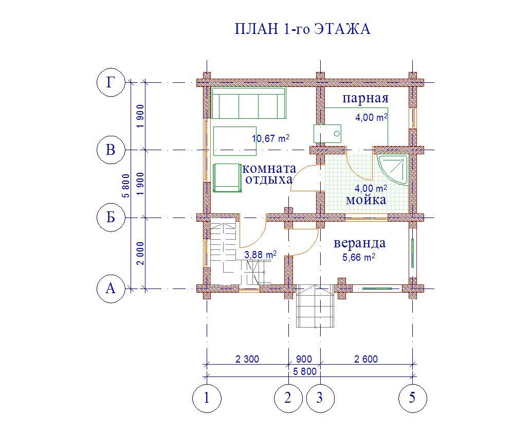 Проект бани БО№28