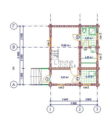 Проект бани БО№31