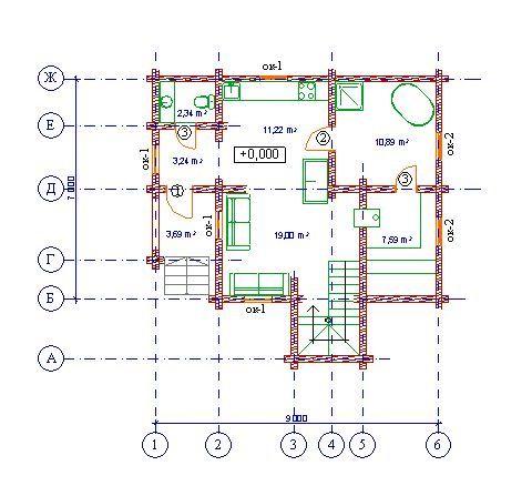 Проект бани БО№32