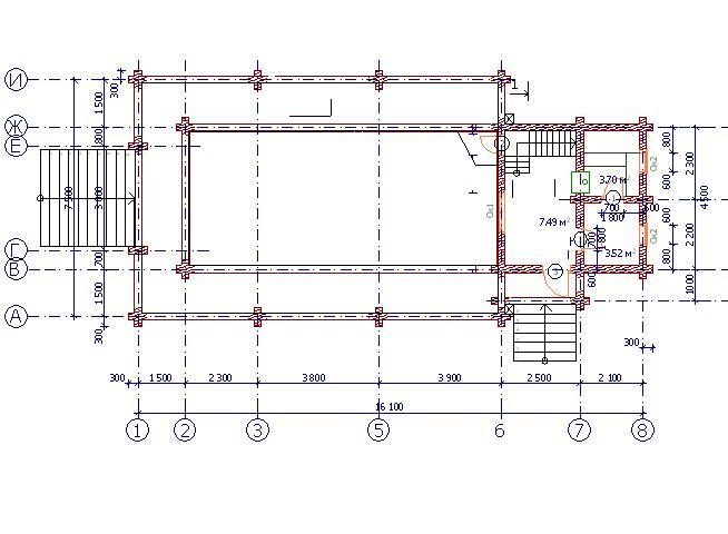 Проект бани БО№42