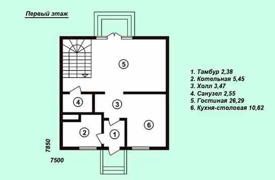Проект дома ДК№1