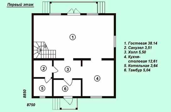 Проект дома ДК№15