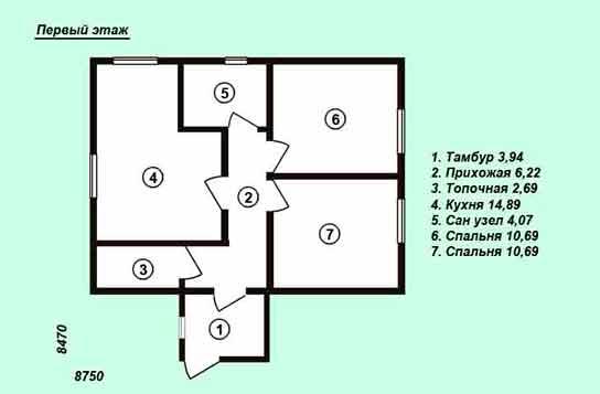 Проект дома ДК№2