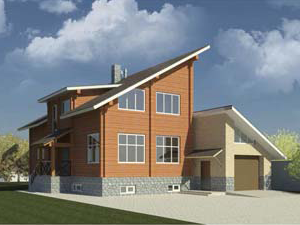 Проект дома ДП №1 Цена: за сруб от 1625000 руб.