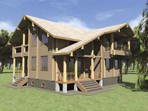 Проект дома ДП №8 Цена: за сруб от 2175000 руб.