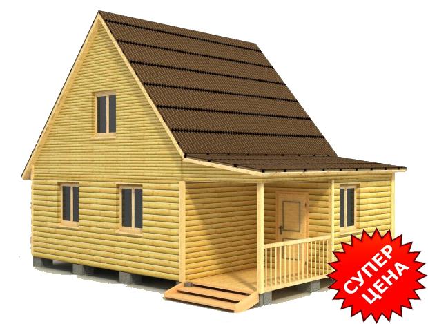 Проект дома под ключ ДС №24 Цена в Новосибирске: за сруб от 510 000 руб.
