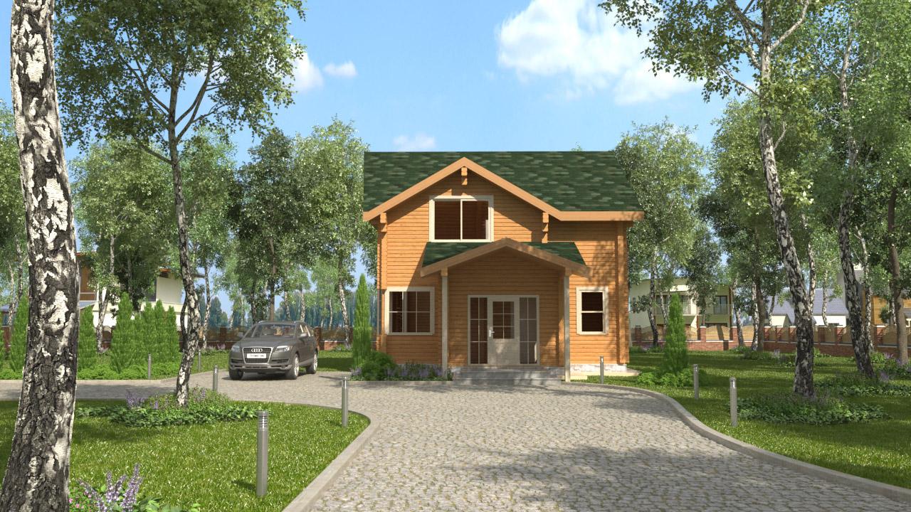 Проект дома из клеёного бруса ДК