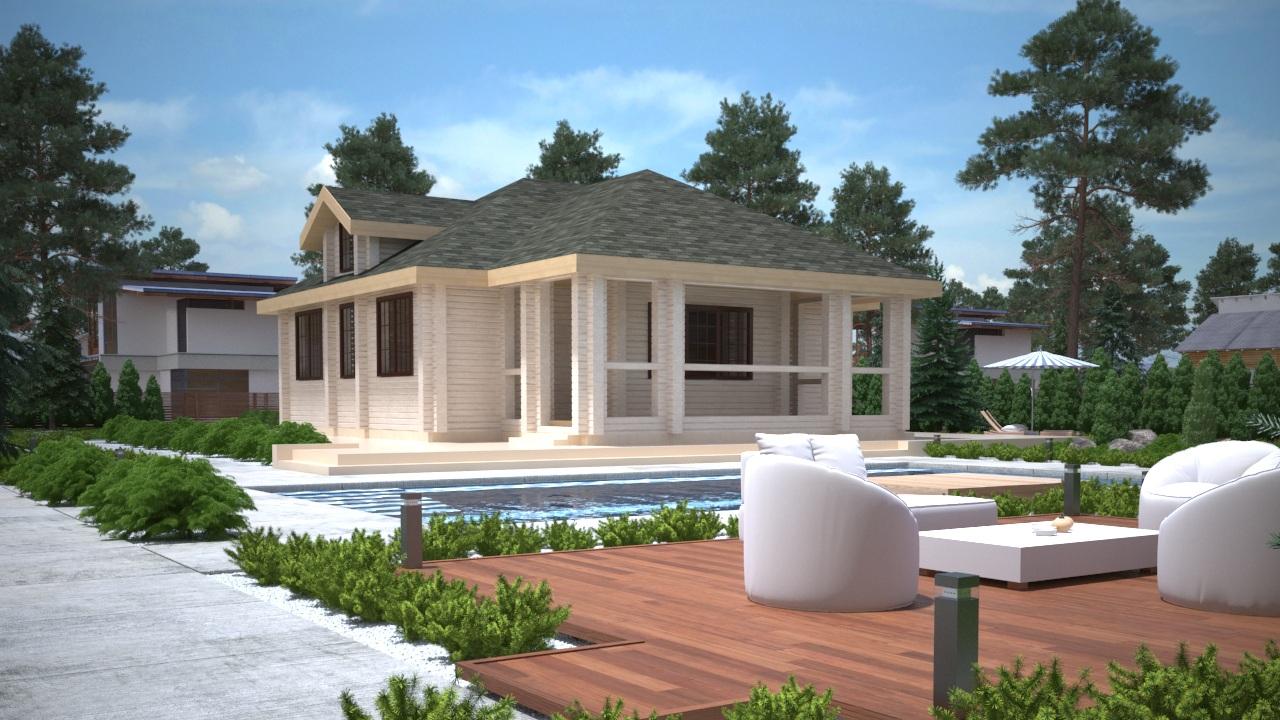 Проект дома из клеёного бруса ДК10
