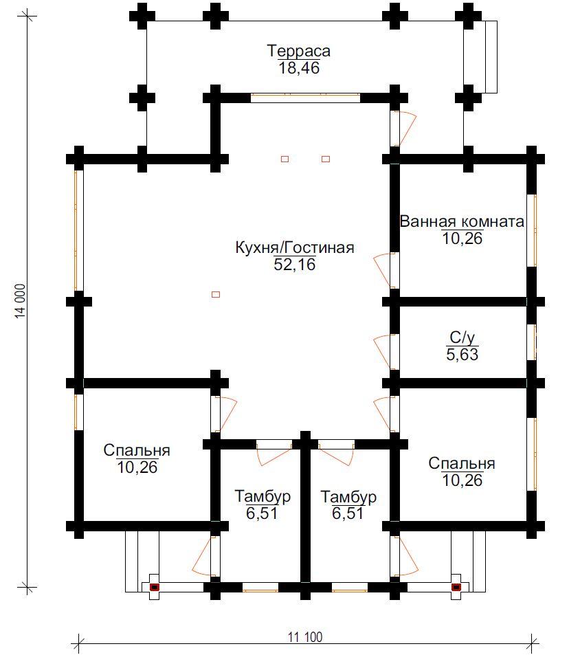 Проект дома ДК10