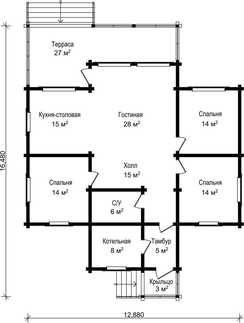 Проект дома ДК12