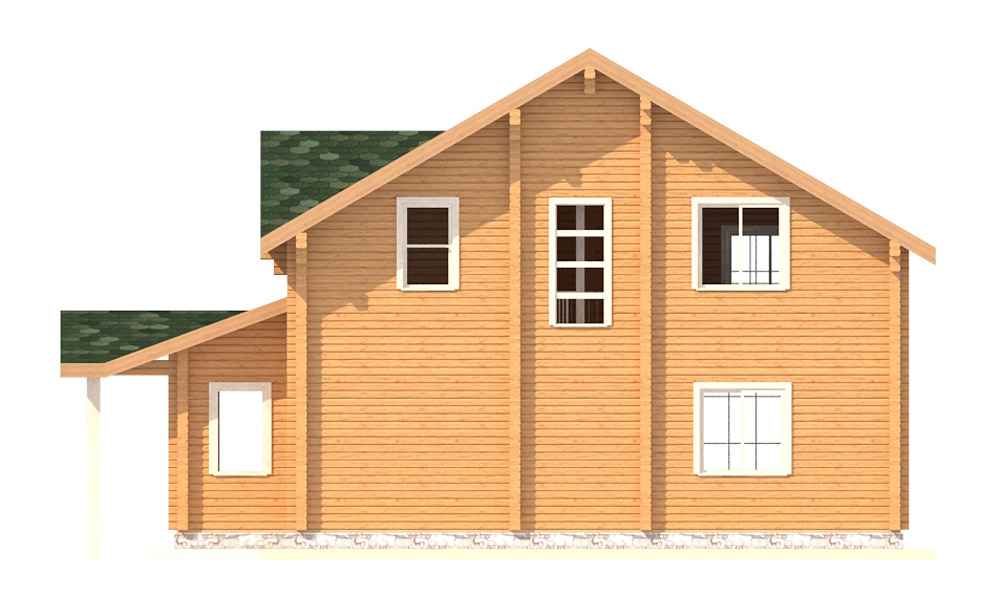 Проект 2-этажного дома с мансардой ДК13