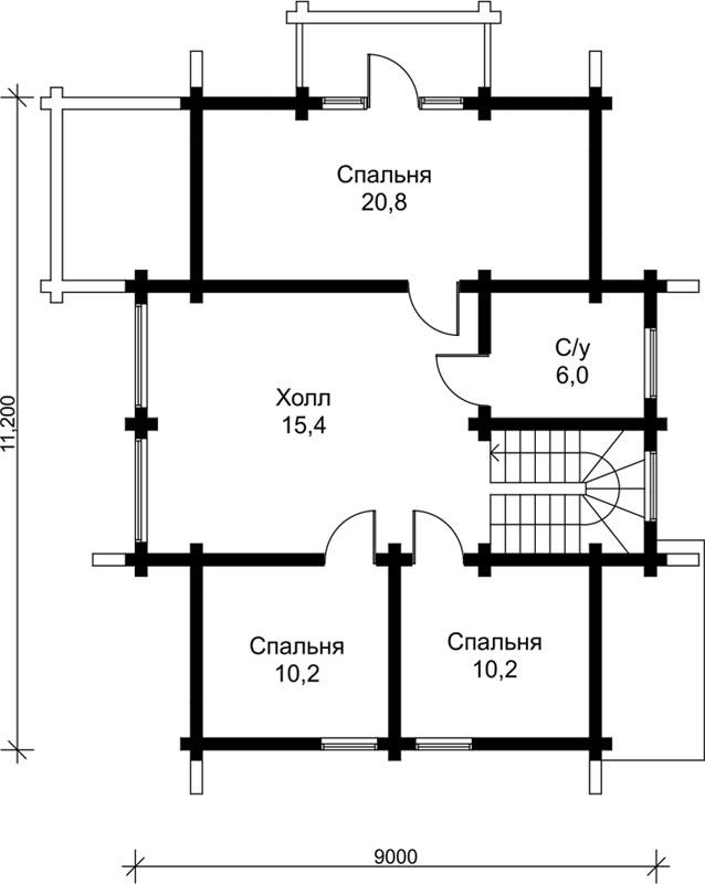 Проект дома ДК21