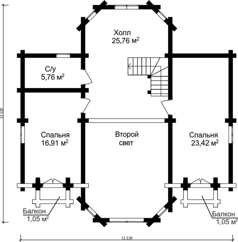 Проект дома ДК23