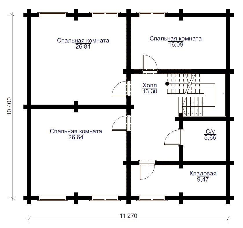 Проект дома ДК27