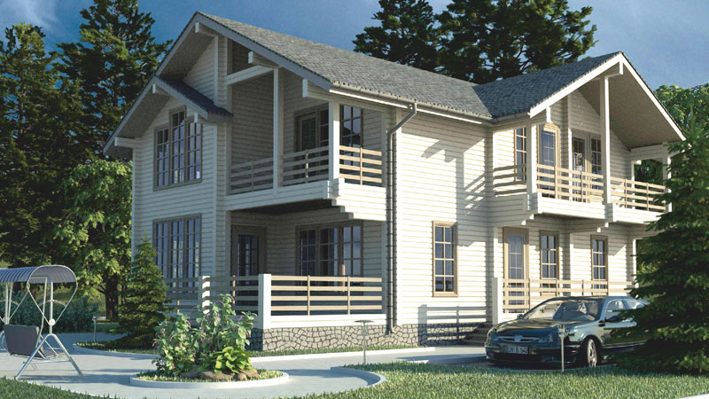 Проект дома с балконами ДК28