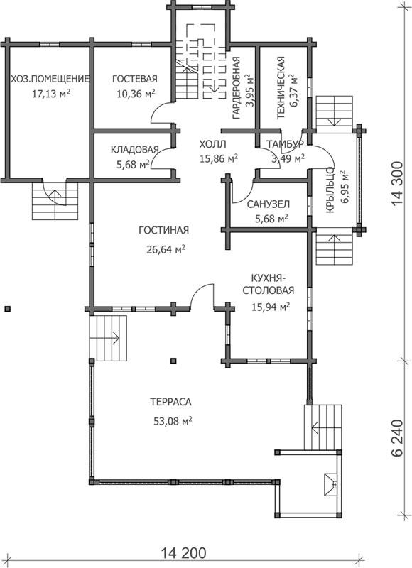 Проект дома ДК30