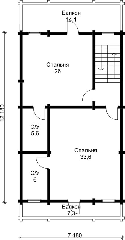 Проект дома ДК34
