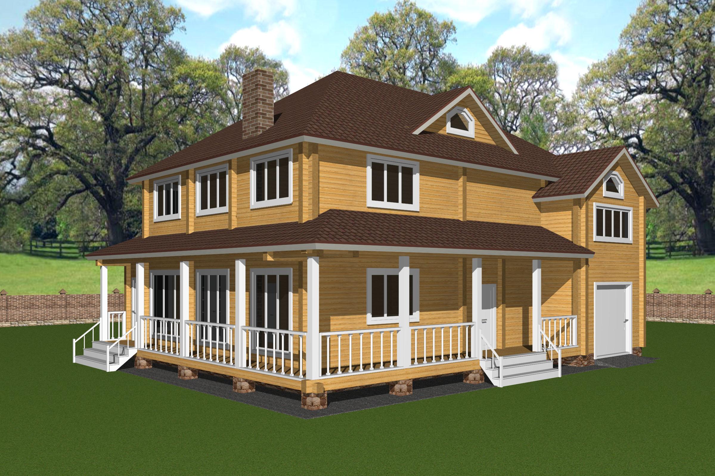 Проект дома из клеёного бруса ДК35