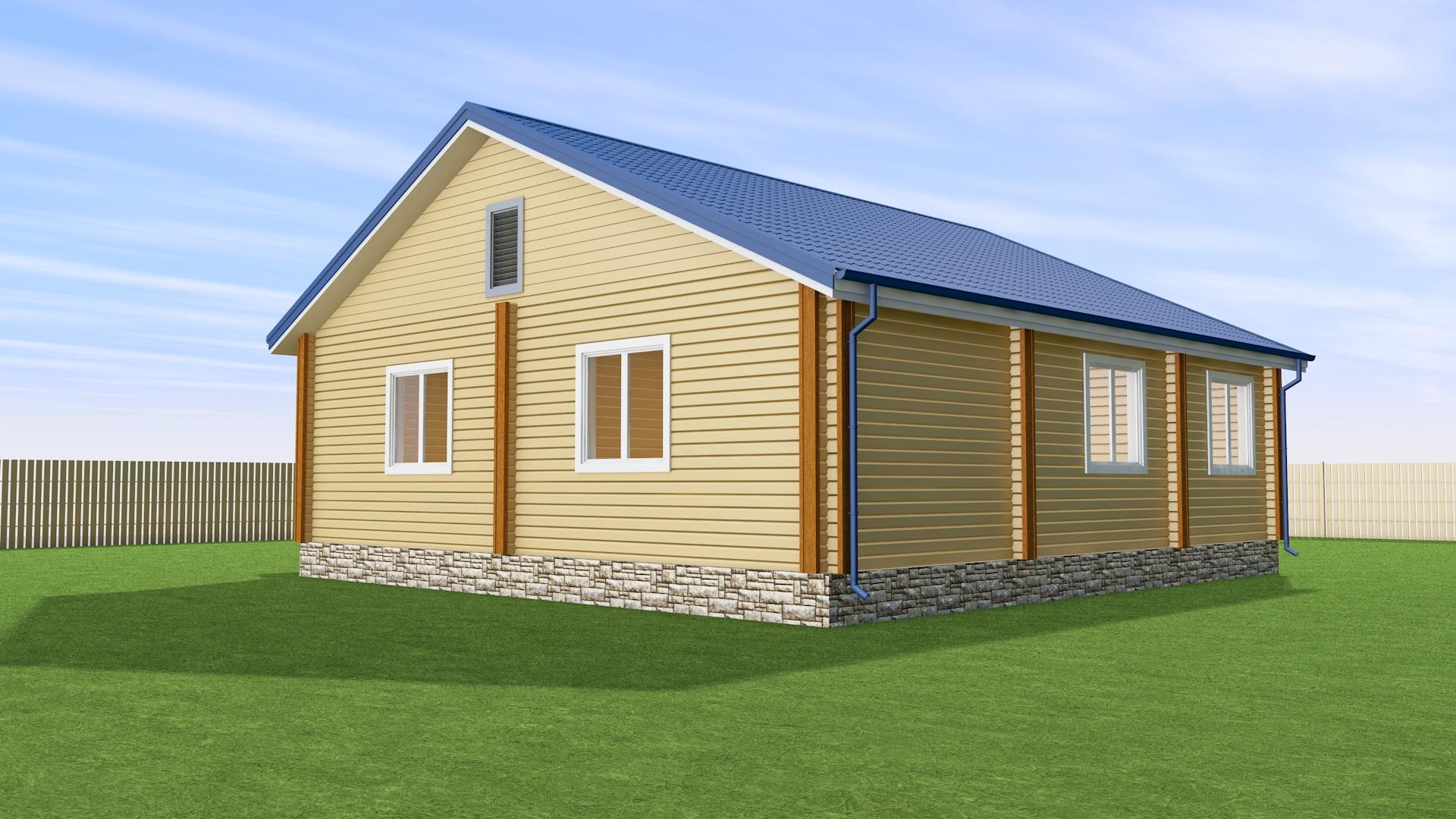 Проект дома с мансардной крышей ДК5