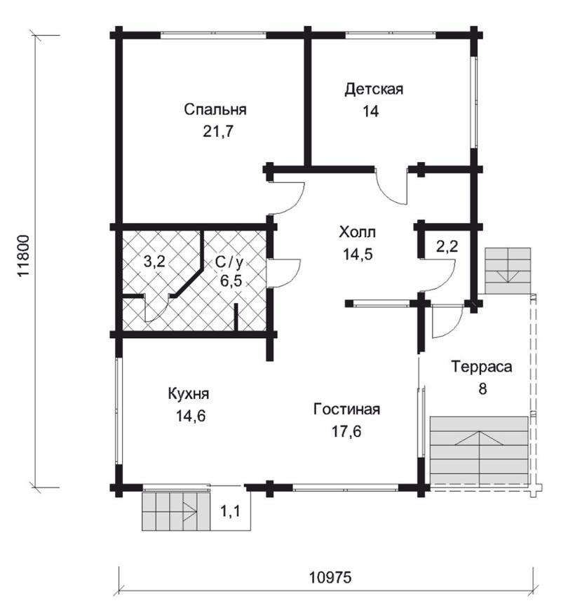 Проект дома ДК6