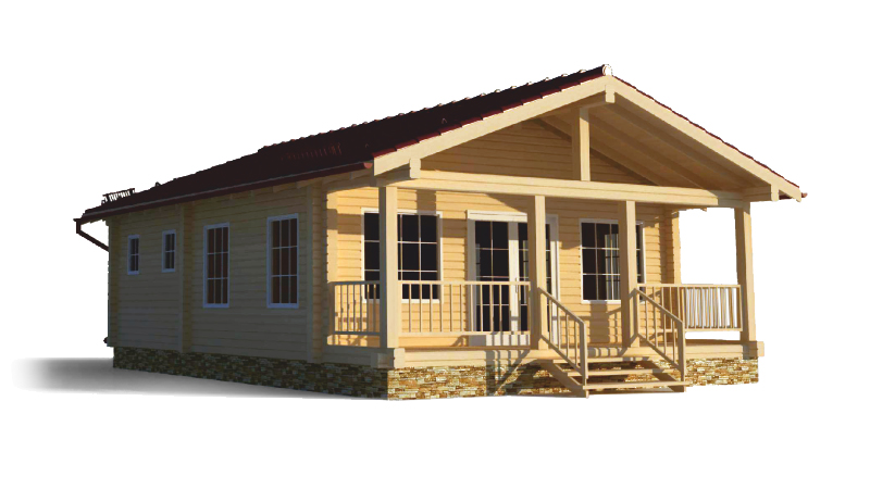 Проект дома с верандой ДК2