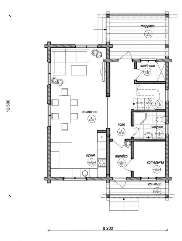 Проект дома ДП №35