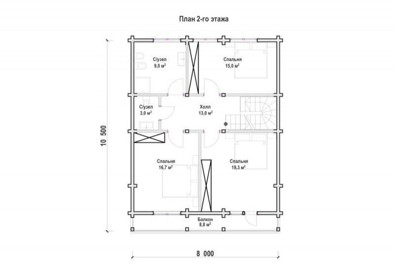 Проект дома ДП №52