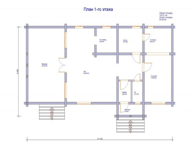 Проект дома ДП №58