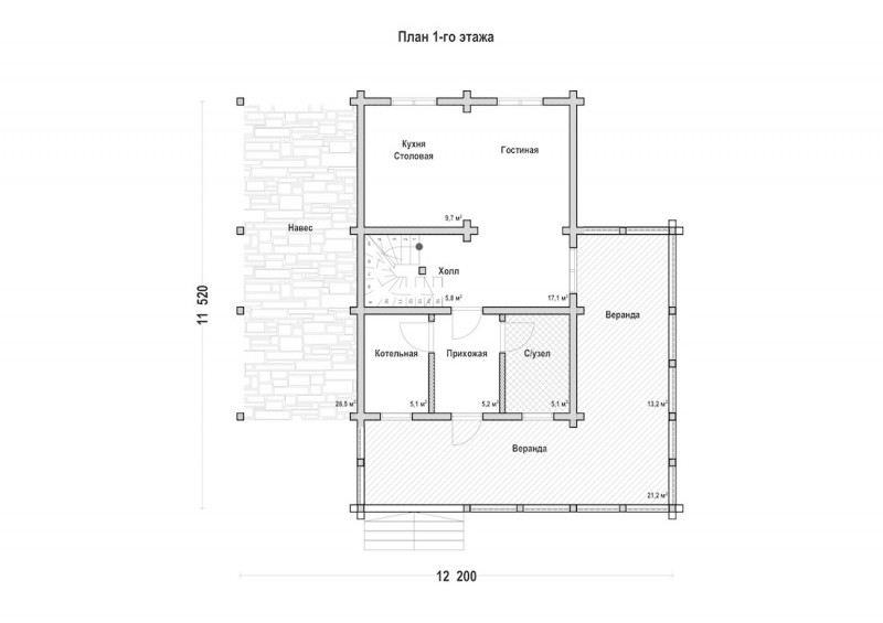 Проект дома ДП №92