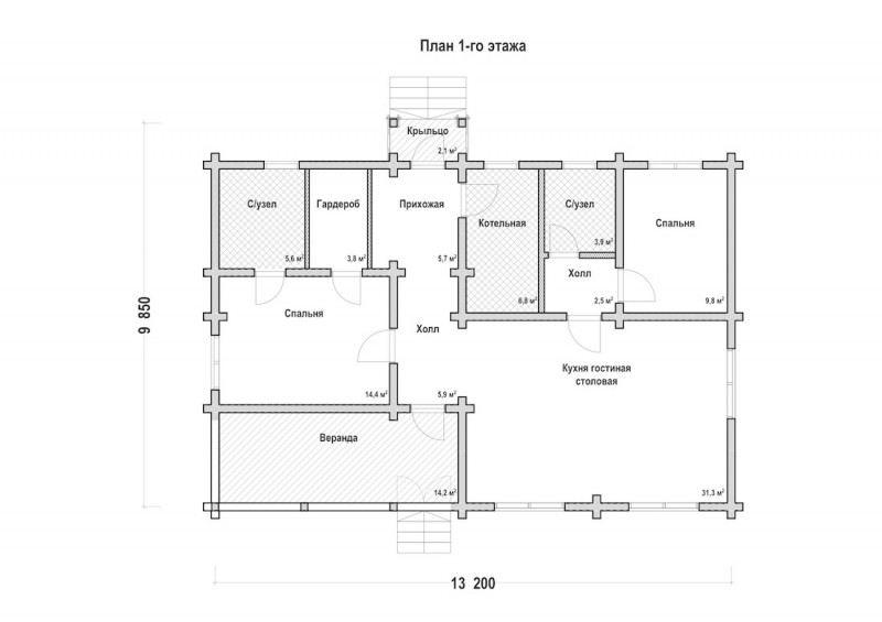 Проект дома ДП №102