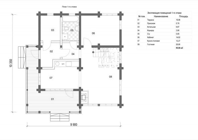 Проект дома ДП №98