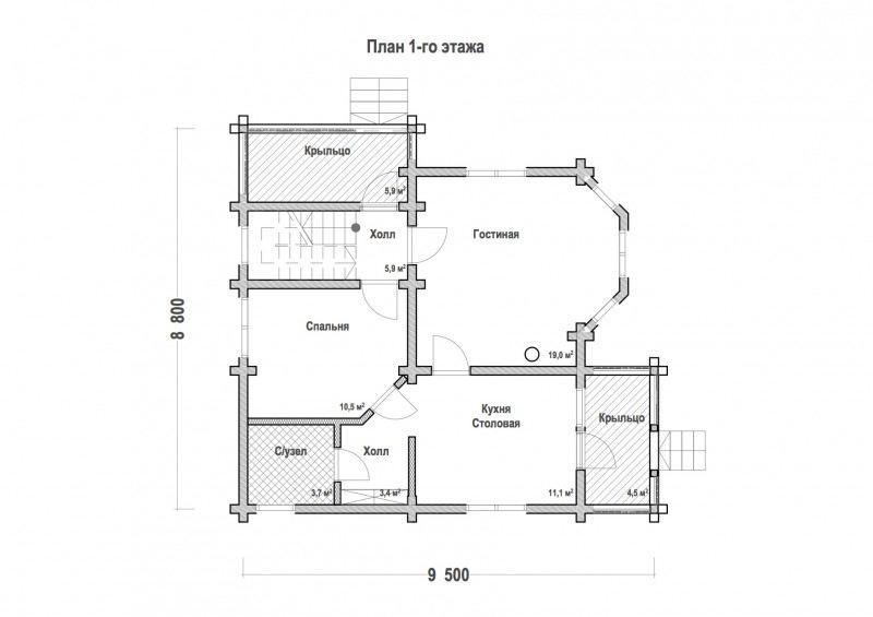 Проект дома ДП №118