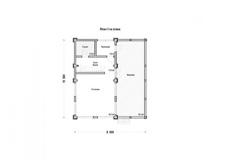 Проект дома ДП №72