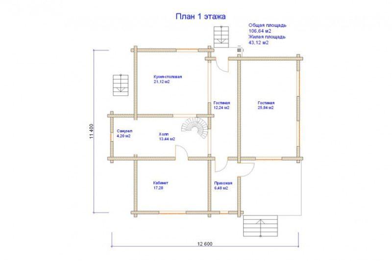 Проект дома ДП №112